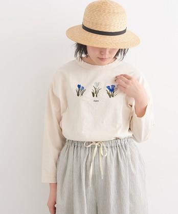 〇cdc ○otsukiyumiコラボ○ クロッカス刺繍 Tシャツ