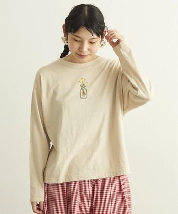 cdc あつめたお花刺繍 Tシャツ