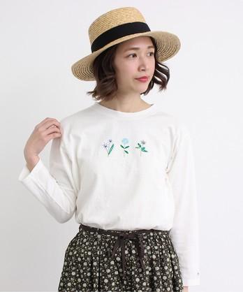 ○cdc 森の小さな花々刺繍 Tシャツ