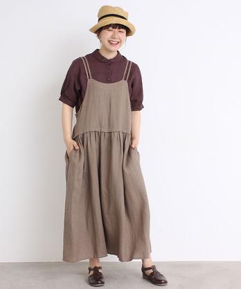○cdc 14リネン エプロンスカート
