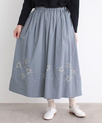 cdc Alyssum刺繍 よこキュッとスカート
