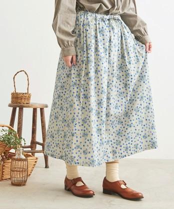 ○cdc おはなドットプリント ギャザースカート
