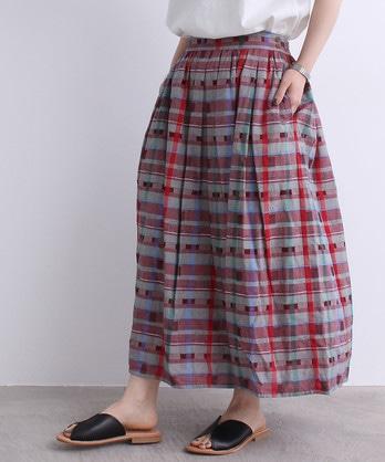 ●cdc オリジナルチェック よこボタンスカート