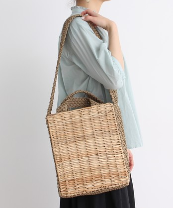 RATTAN MACRAME BAG 2WAY