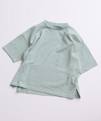 〇aimer USAコットン 18/-天竺 製品染モックネックTシャツ