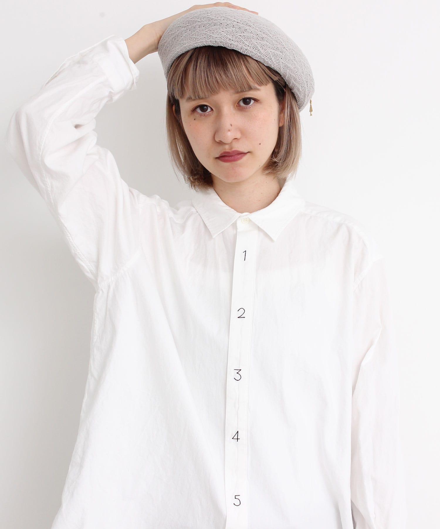 シャトルOX数字刺繍シャツ