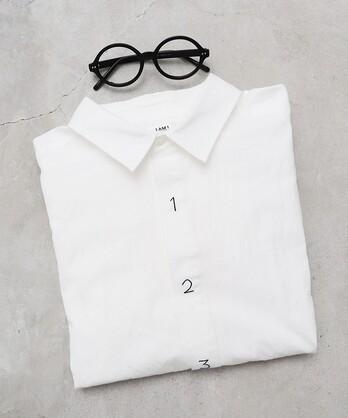 △シャトルOX数字刺繍シャツ