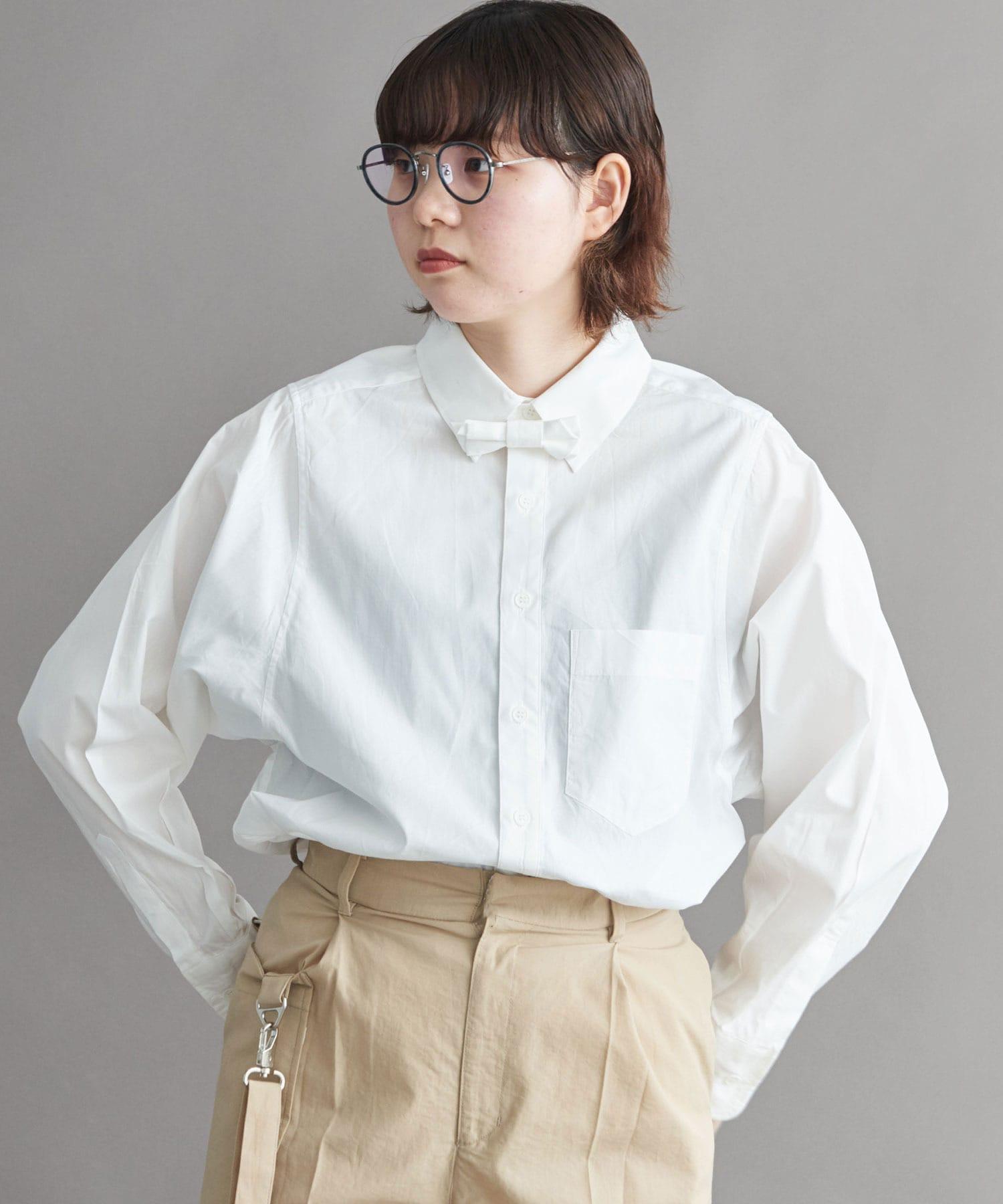△ブロード ボウタイ付きシャツ