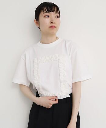 △○フリルフレームTシャツ