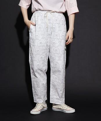 〇crowd of people刺繍 パンツ