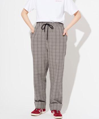 ○ブラックチェック パジャマパンツ