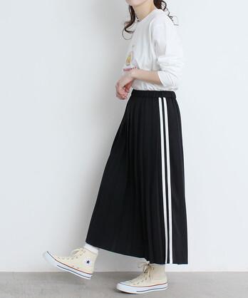 〇ジャージプリーツスカート