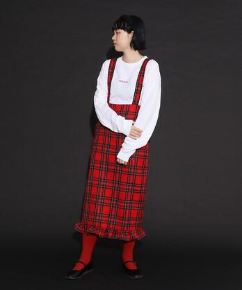 〇Wool check Lady サススカート