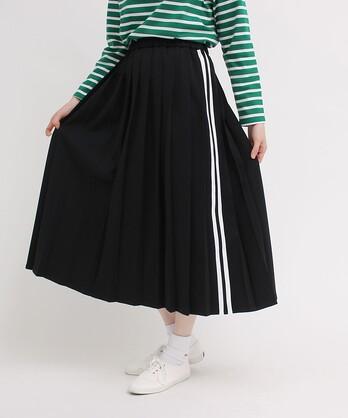 〇サイドラインジャージ プリーツスカート【WEB限定色:PINK】